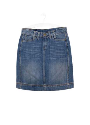 Стильная качественная винтажная юбка со шлицей levis