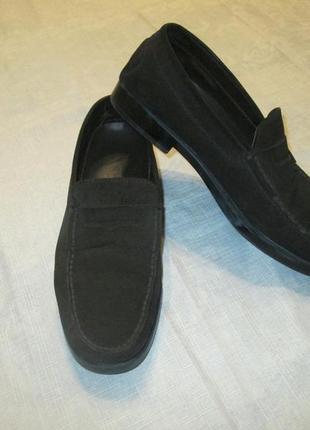 Лоферы tods оригинал кожаные (замшевые) туфли tod's италия