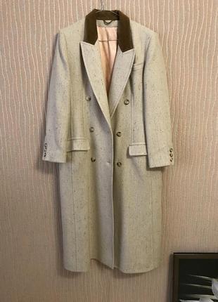 Классическое двубортное пальто шерсть