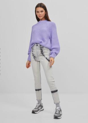 Стильные джинсы скини на высокой посадке4 фото