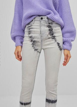 Стильные джинсы скини на высокой посадке7 фото