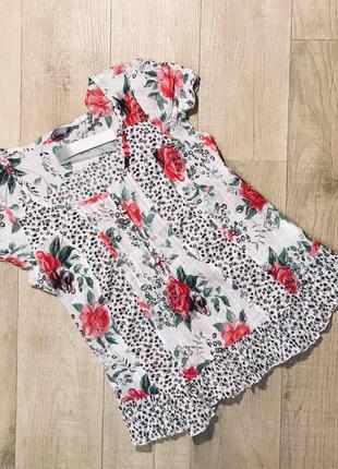 """Блуза в цветочный принт """"per una"""" 100% хлопок"""
