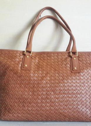 Огромная, кожанная сумка aura! италия!