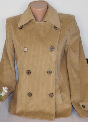 Брендовый вельветовый пиджак жакет с карманами per una чехия коттон
