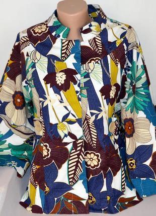 Брендовый разноцветный пиджак жакет блейзер miss selfridge румыния коттон этикетка