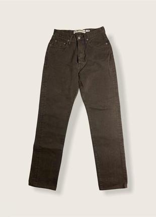 Темно коричневые мам джинсы mom jeans mom fit
