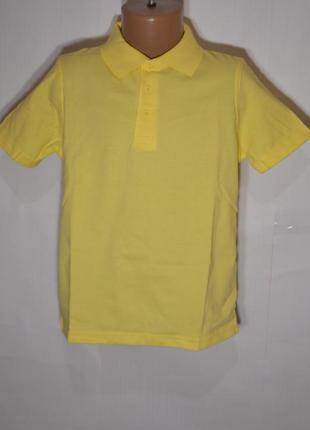 Футболка поло для мальчика 3-4 и 5-6 года хлопок желтый george