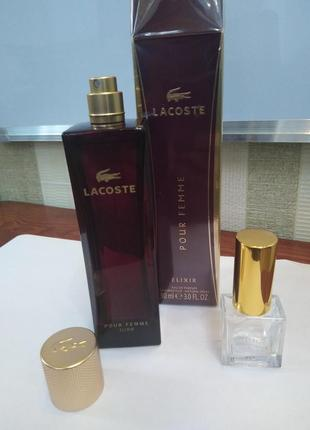 Оригинал lacoste pour femme elixir, 10 мл