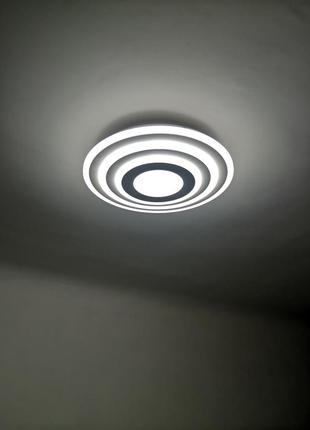 Светильник лампа led большая круглая люстра