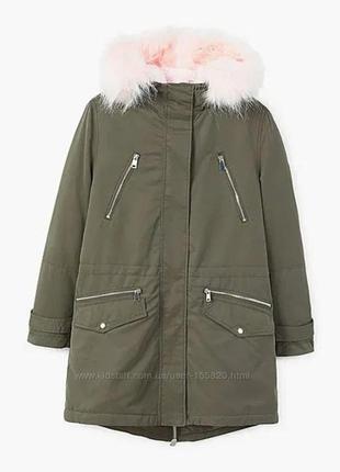 Бомбезная парка, куртка mango