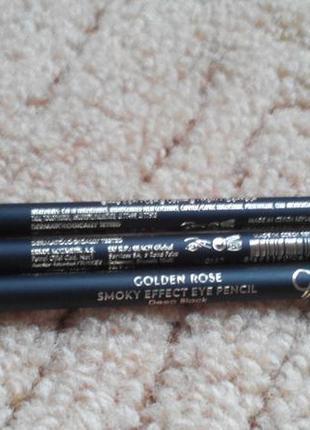 Карандаш для глаз golden rose smoky effect eye pencil