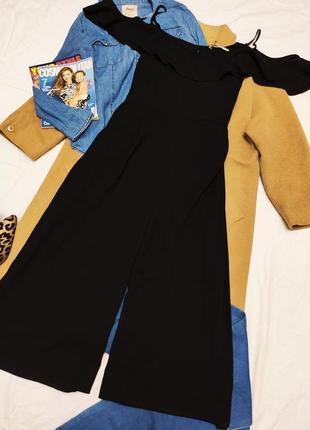 George комбинезон кюлоты ромпер черный с открытыми плечами большой батал оверсайз