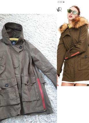 Стильная куртка/ветровка/парка с капюшоном цвет хаки, jazzevar, p. 38-42
