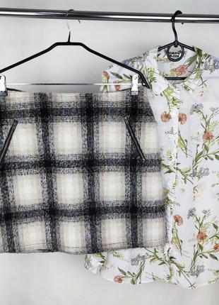 Красивая брендовая юбка george шерсть этикетка