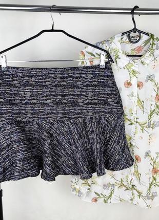 Стильная брендовая легкая мини юбка warehouse этикетка