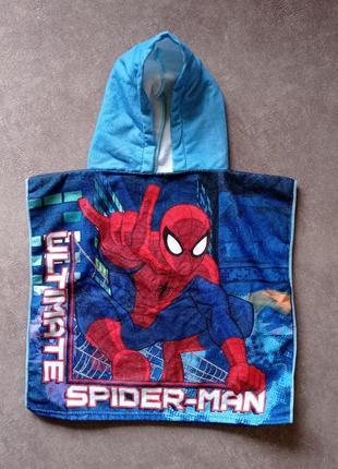 Полотенце пончо с капюшоном marvel spider man