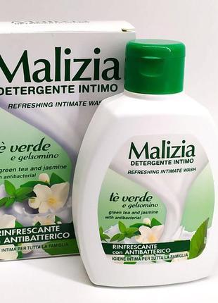 Malizia te verde жидкое мыло для интимной гигиены италия зеленый чай антибактериальное