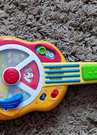 Игрушка іграшка гитара гітара музыкальная музикальна в новом состоянии с батарейками