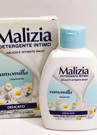Malizia camomilla жидкое мыло для интимной гигиены италия успокаивающее ромашка