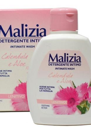Malizia calendula aloe успокаивающее мыло для интимной гигиены календула алоэ алое италия