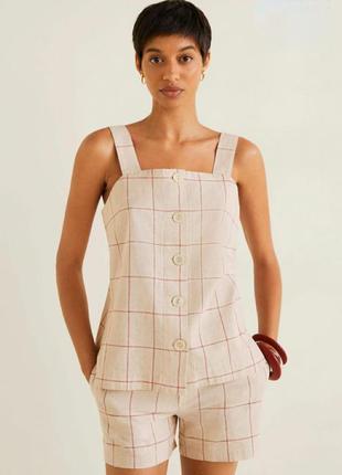 Льняная блуза топ лён/хлопок mangooutlet original spain