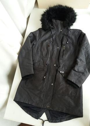 Парка mss куртка демизезонная / теплая женская зима до 0 пальто marks & spencer