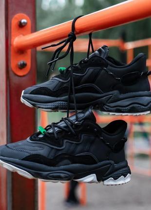 Кожаные кроссовки adidas ozweego