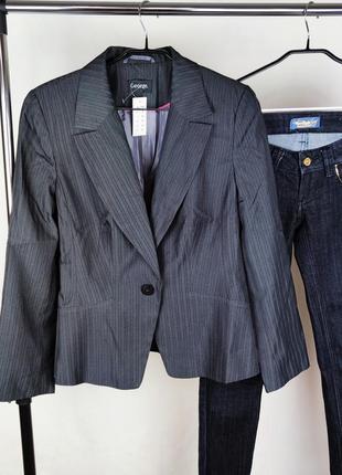 Стильный пиджак жакет блейзер george этикетка бангладеш