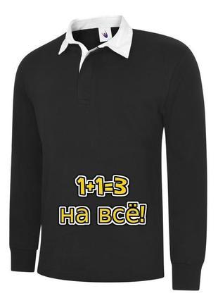 🌿1+1=3 крутой черный плотный свитер поло uneek premium, размер 50 - 52, премиум коллекция