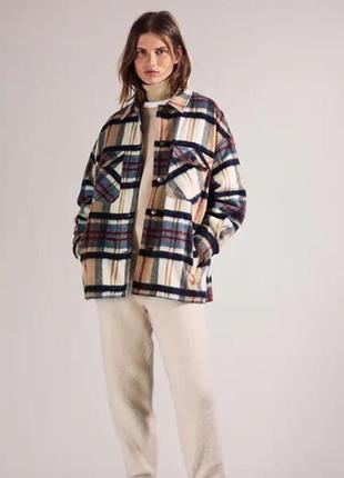 Куртка рубашка zara, шерсть в составе