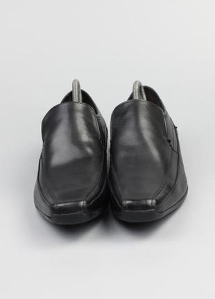 Фирменные кожаные туфли в стиле clarks ecco geox