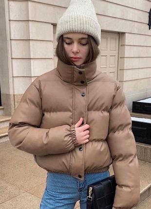 Топовая куртка эко кожа🖤