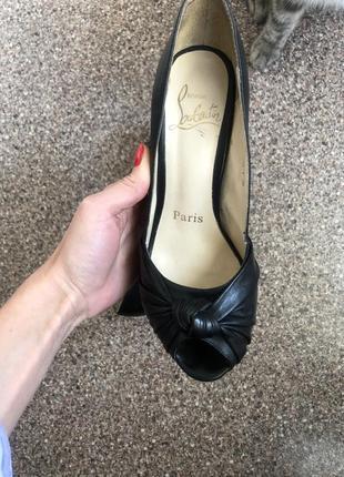 Туфли кожаные с открытым носиком