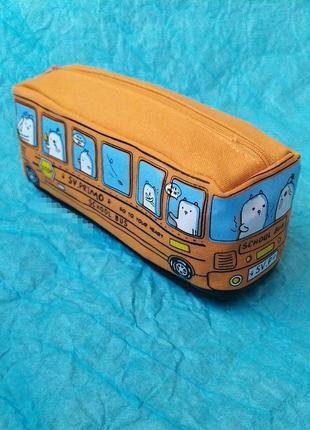 Пенал для дошкольников, первоклашек school bus