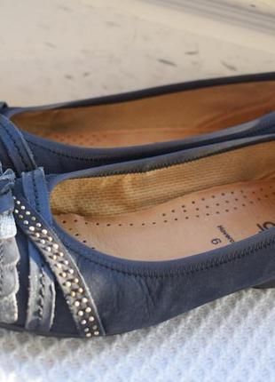 Кожаные туфли балетки лодочки габор gabor р.39 25,7 см