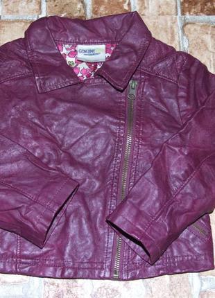 Стильная куртка косуха кожаная 2 года девочке oshkosh