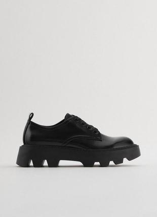 Туфли броги на платформе zara