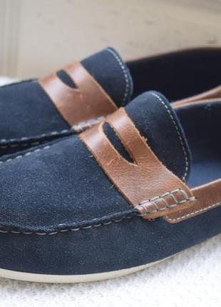 Замшевые туфли мокасины слипоны лоферы red tape р.43 29 см топсайдеры