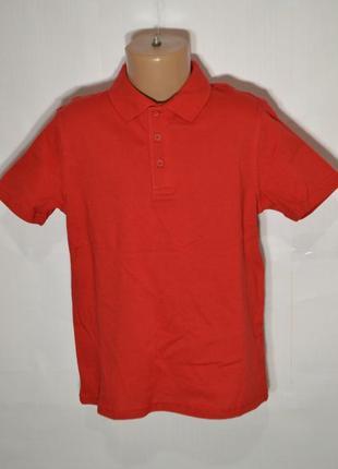 Поло футболка для мальчика 7-8 лет 100% хлопок красный george