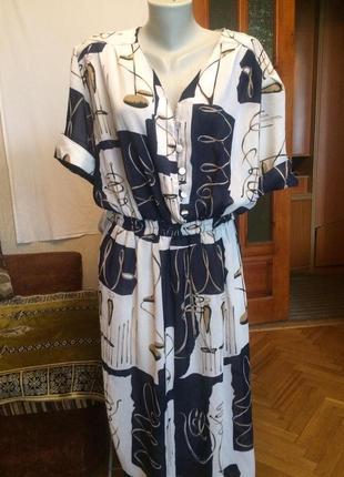 Красивое,шифоновое платье,миди,guette