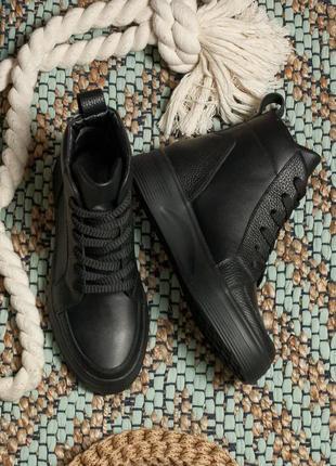 Ботинки демисезонные, осенние, замшевые, кожаные, женские, 35-40р