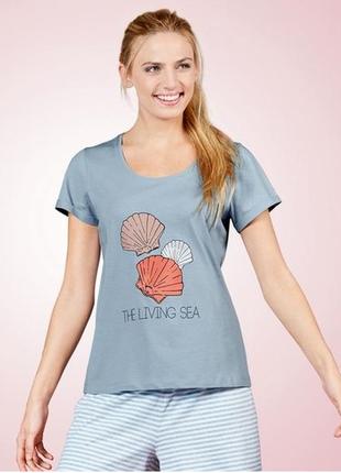 Хлопковая женская футболка для дома и сна esmara s,m,l