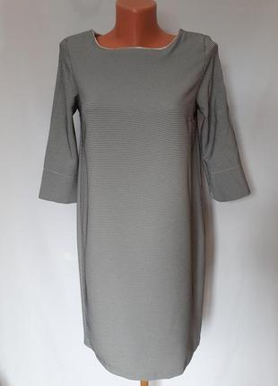 Итальянское платье черно- белый принт (размер 36-38)1 фото