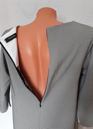 Итальянское платье черно- белый принт (размер 36-38)5 фото