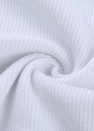 Топ жіночий білий в рубчик4 фото