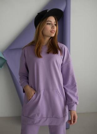 Спортивный костюм оверсайз фиолетовый сирень