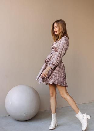 """Платье """"stileo горох """" на запах в двух расцветках, new spring collection 🕊, качество люкс"""