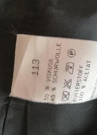 Удлиненный пиджак в клетку, модный принт3 фото