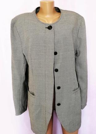 Удлиненный пиджак в клетку, модный принт
