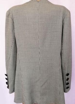 Удлиненный пиджак в клетку, модный принт4 фото